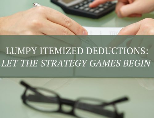Lumpy Itemized Deductions: Let the Strategy Games Begin