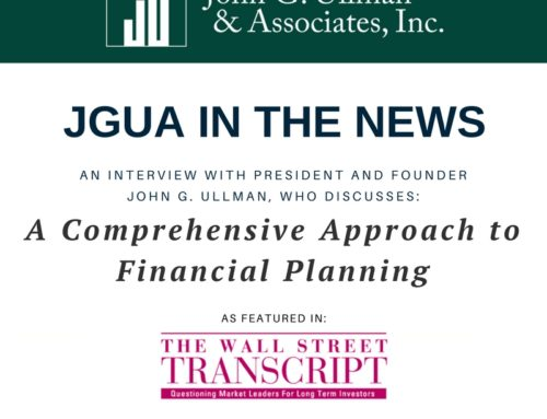 JGUA In The News: An Interview with John G. Ullman as featured in The Wall Street Transcript