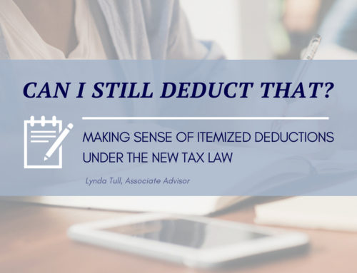 Making Sense of Itemized Deductions Under The New Tax Law