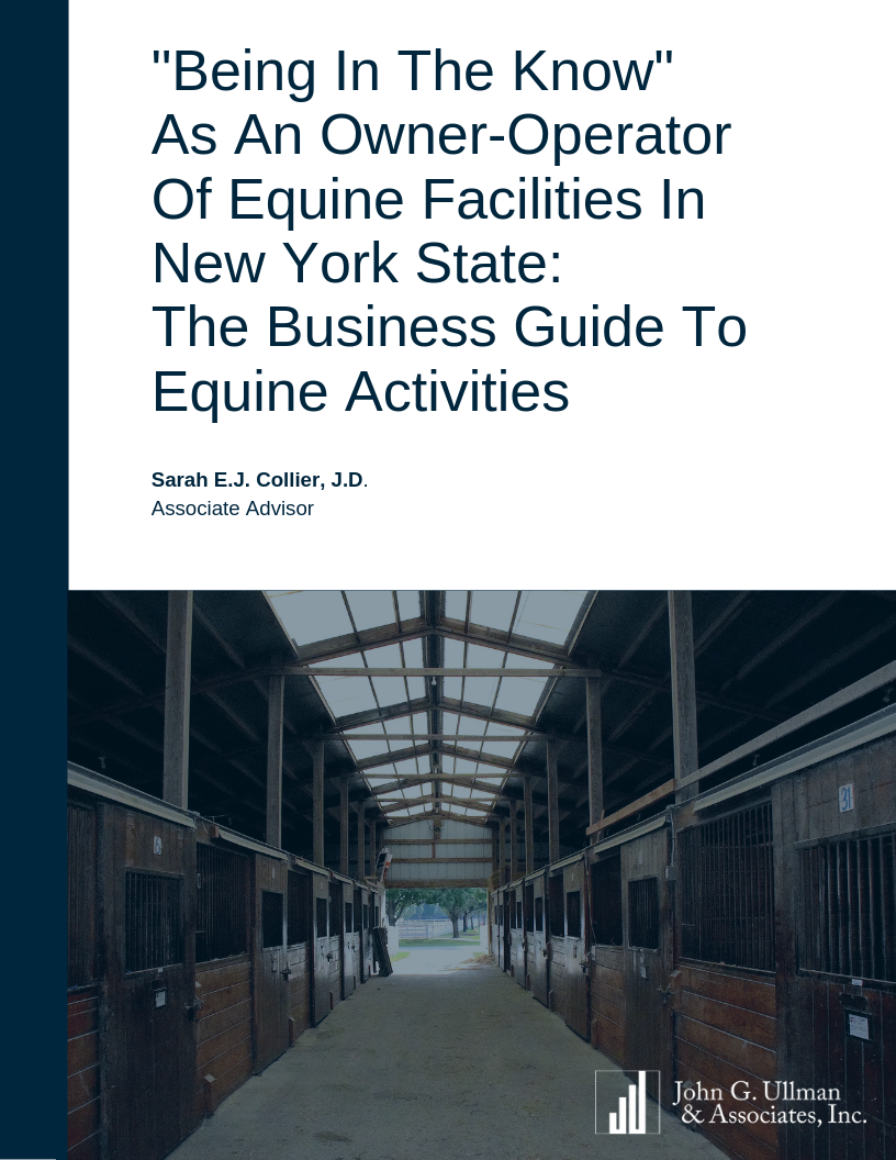 """Being In the Know"" as an Owner-Operator of Equine Facilities in New York State"