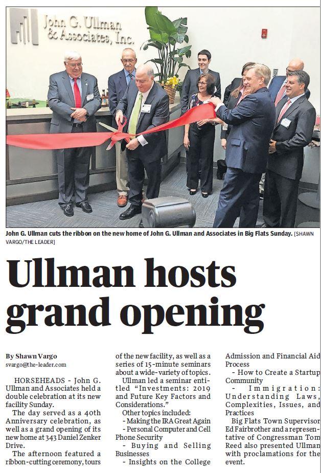 In the News   John G  Ullman & Associates