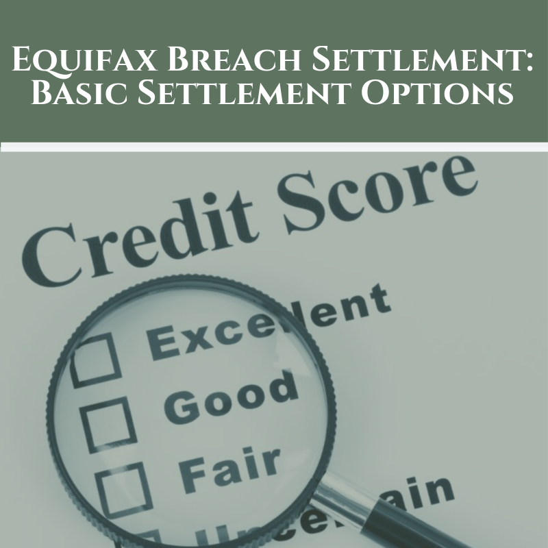 Equifax Breach Settlement: Basic Settlement Options