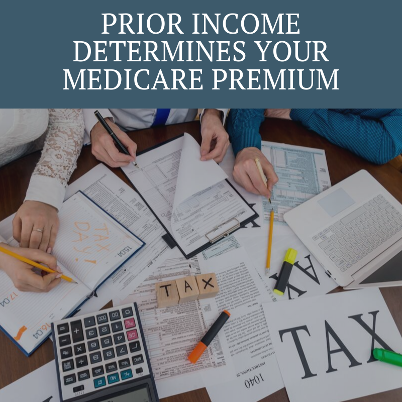Prior Income Determines your Medicare Premium